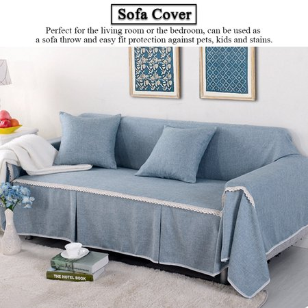 WALFRONT Sofa Slipcover Couch Cover for 1 2 3 4 Cushions Couch Cover Slipcover for Home Living Room Grey/Blue/Blue/Beige/Brown ()