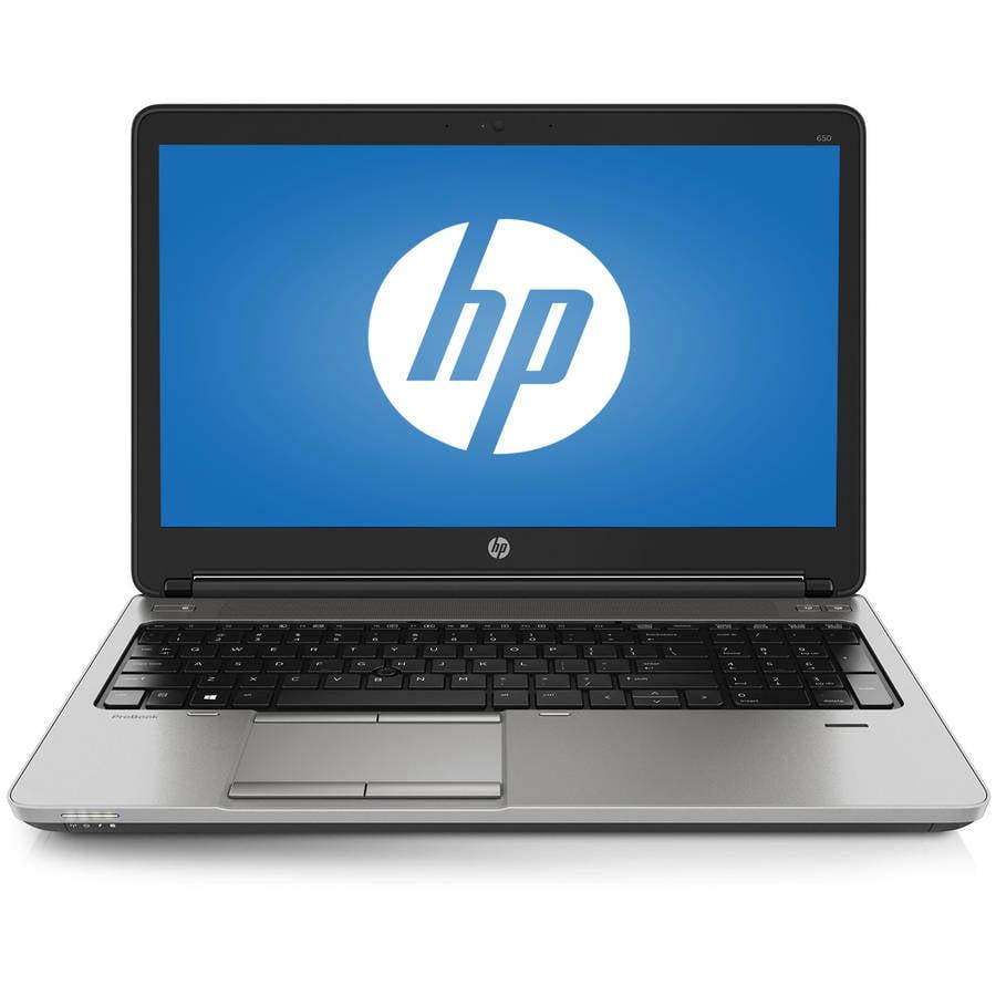 "HP Black 15.6"" SmartBuy ProBook 650 G3 T3L54UT Laptop PC with Intel Core i5-4210M Processor, 4GB Memory, 500GB Hard Drive and Windows 7 Professional"