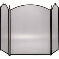 "Dagan Three Fold Bronze Arched Fireplace Screen, 52"" x 32"""