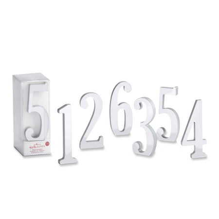Silver Mirror Table Numbers (1-6) (Table Number Ideas)