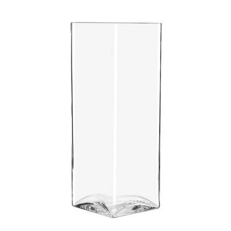 Libbey Glasswares Square Vase 17 X 6 Walmart