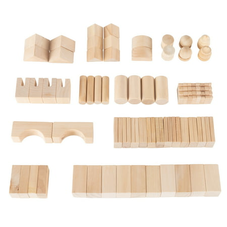 Wooden Blocks-65 Pc. Classic Building Set with Storage Bag-Stacking, Sorting, and Shape Recognition STEM Learning Toy for Preschoolers by Hey! Play!](Building Block Bags)