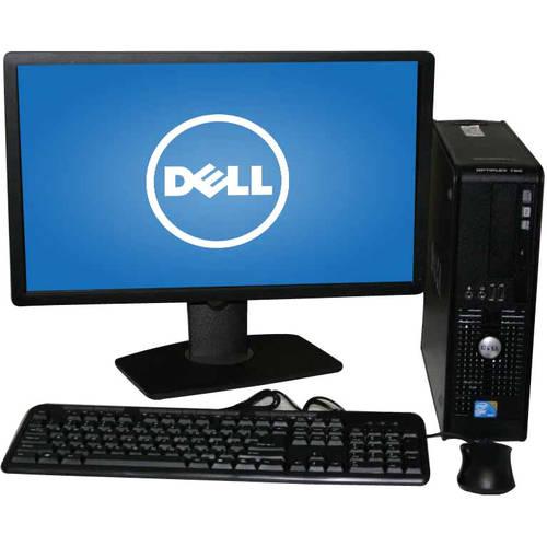"""Refurbished Dell 780 SFF Desktop PC with Intel Core 2 Duo E8400 Processor, 4GB Memory, 22"""" LCD Monitor, 250GB Hard Drive and Windows 10 Home"""