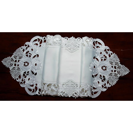 Xia Home Fashions Delicate Lace Embroidered Cutwork Table Runner - Cutwork Lace