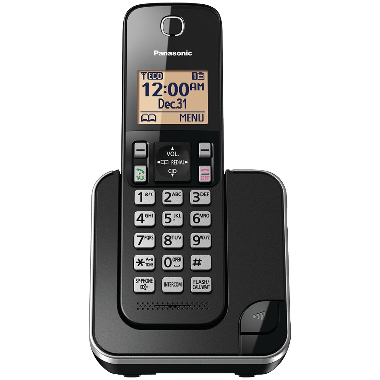 Cordless Telephone in black