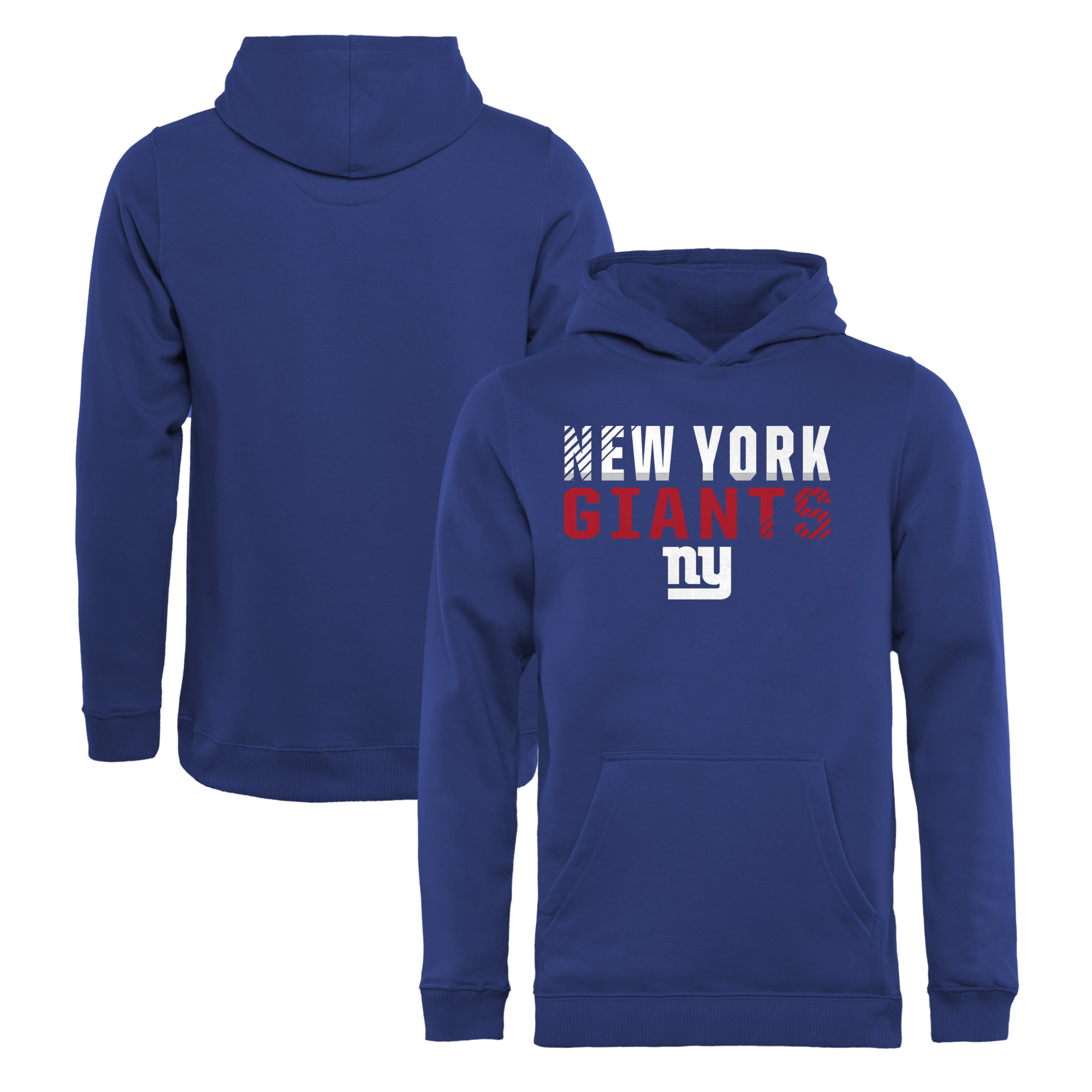New York Giants NFL Pro Line by Fanatics Branded Youth Iconic Collection Fade Out Pullover Hoodie - Royal