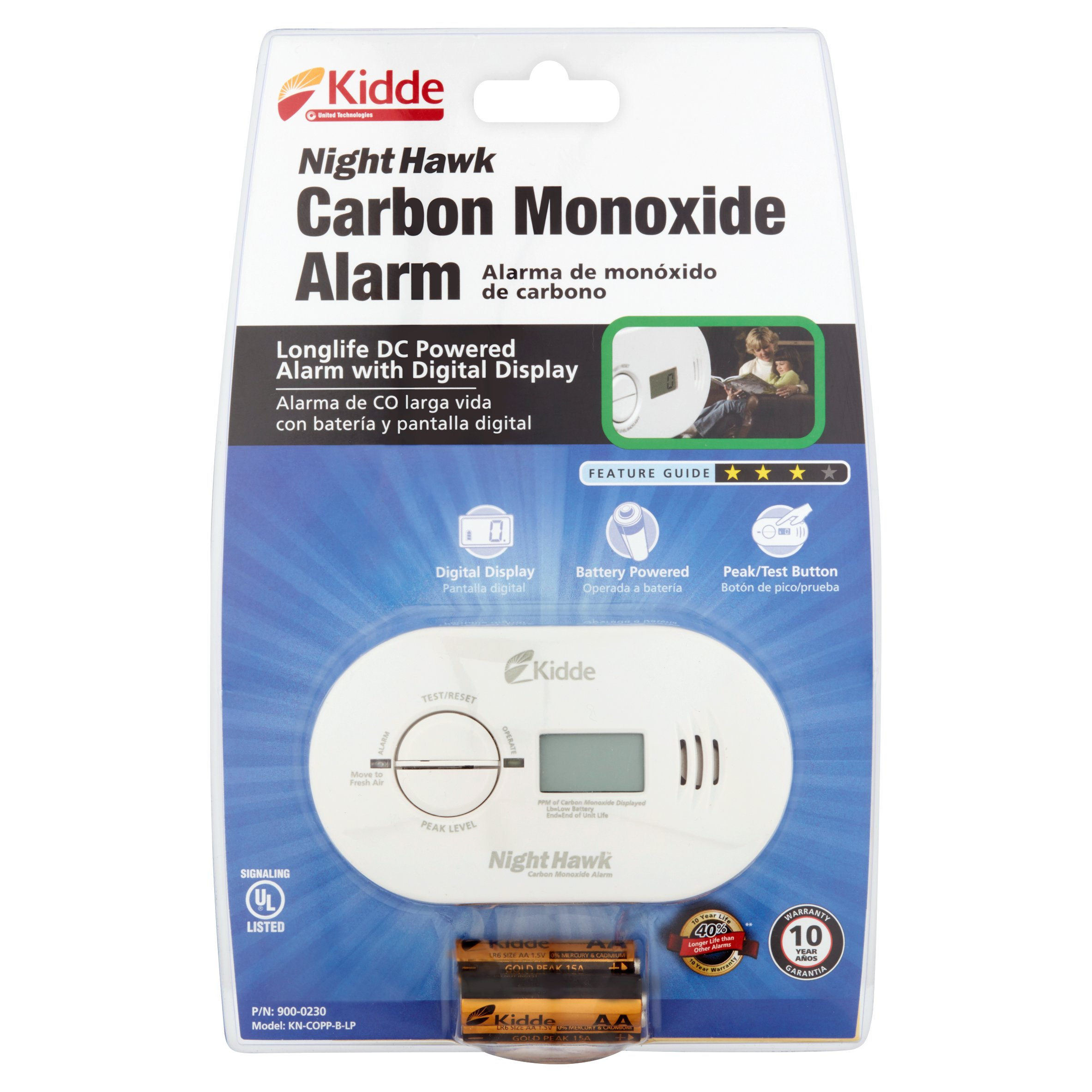 Kidde Nighthawk CO Detector KN-COPP-B-LP by KIDDE