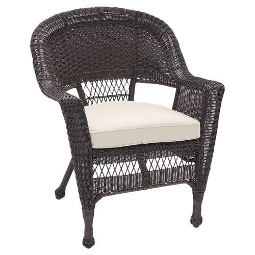 Jeco W00201-2 Espresso Wicker Chair - Set 2