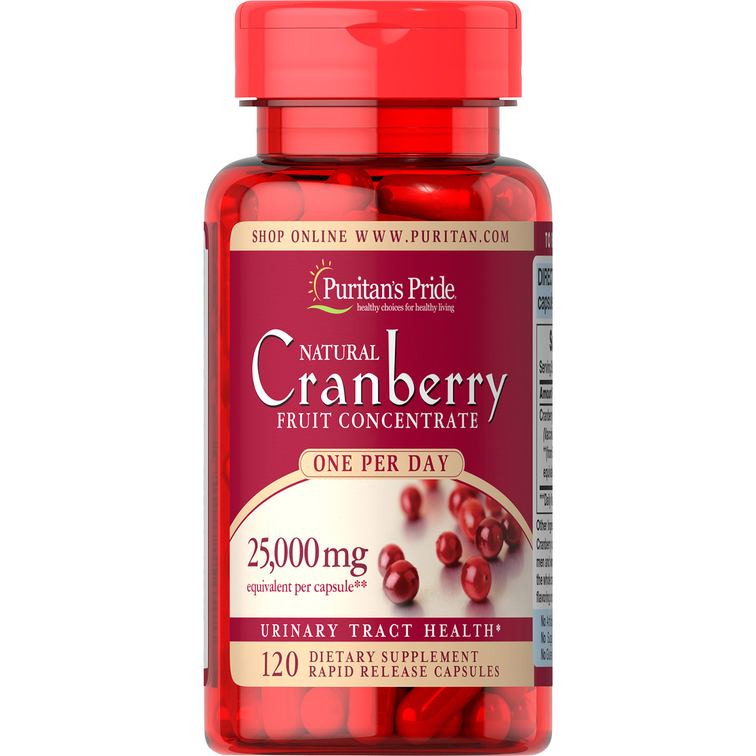 Puritan's Pride One A Day Cranberry -120 Capsules