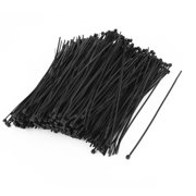 500 Pcs Nylon Strip Zip Tie Wire Cable Fastener Off Black 2mm x 150mm