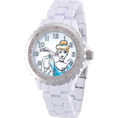 Cinderella Women's Enamel Watch, White Bracelet