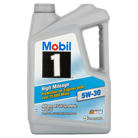 mobil 1 5w 30 high mileage full synthetic motor oil 5 qt. Black Bedroom Furniture Sets. Home Design Ideas