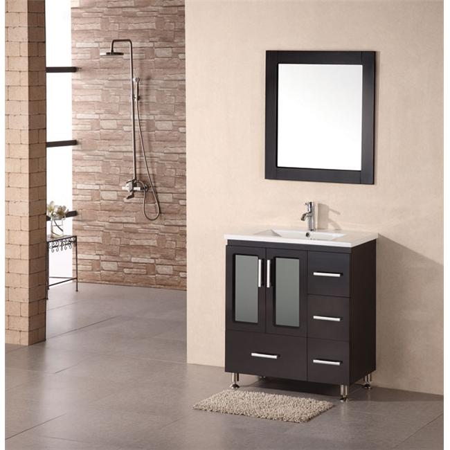 Design Element B30-DS Stanton 30 inch modern vanity with drop in sink