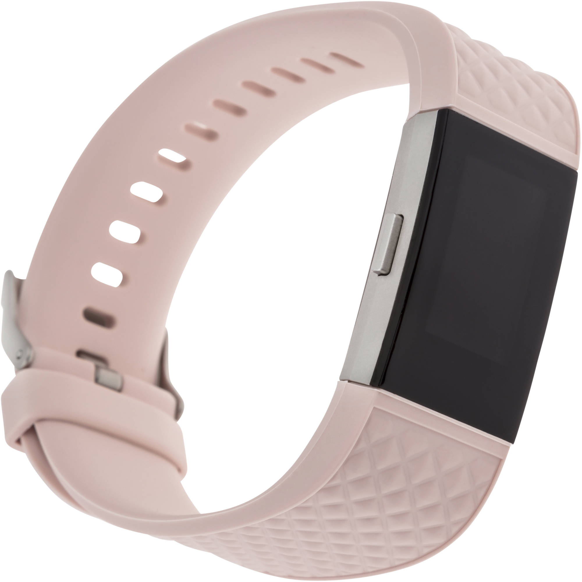 Blackweb Replacement Band With Steel Buckle For Fitbit Charge 2, Pink