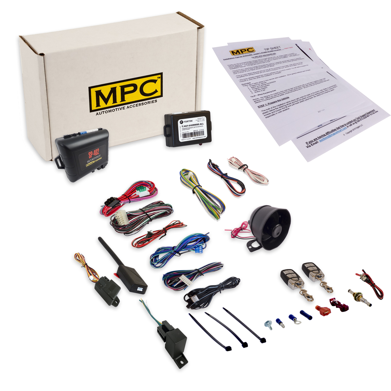 MPC Remote Starter & Alarm System for Lincoln Mazda Mercu...
