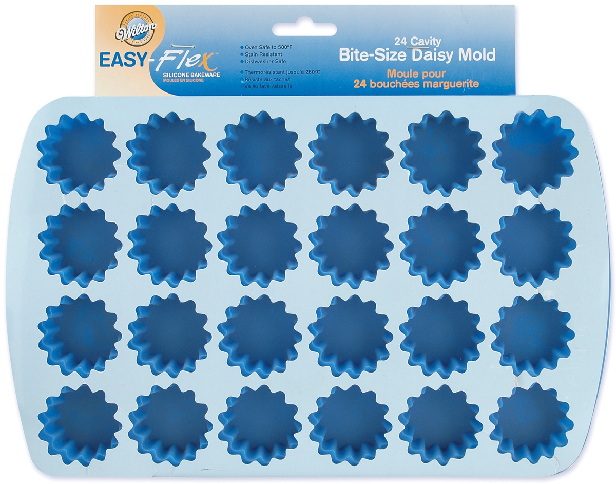 Wilton Easy Flex 24-Cavity Bite Size Silicone Mold, Daisy 2105-4889 by Wilton