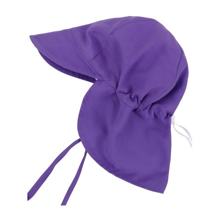 Baby Toddler Kids 50+ UPF UV Ray Sun Protection Hat w  Neck Flap Purple 15f96f3463c