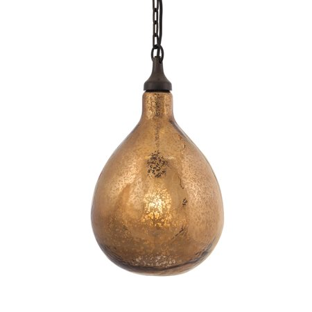 Mercury Incandescent Pendant (Salina Antique Amber Mercury Glass Pendant Light)