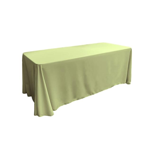 LA Linen TCpop90x132-SageP19 Polyester Poplin Rectangular Tablecloth, Sage 90 x 132 in. by