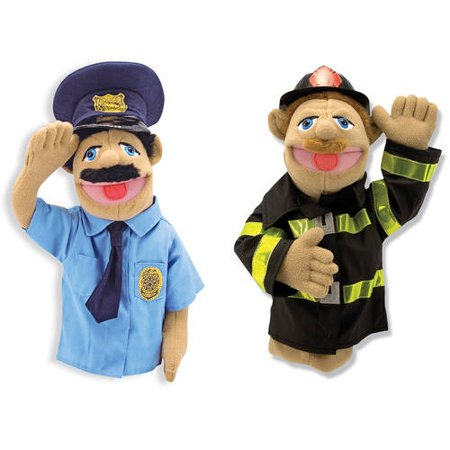 Melissa & Doug Puppet Bundle, Police Officer and Firefighter