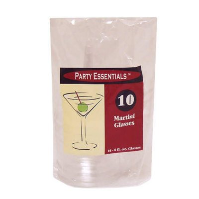 Party Essentials Plastic Martini Glasses, 8 oz. (120 ct.) These plastic martini cups add an elegant touch to any event without the risk of broken glass, for parties, food service and everyday use. - Elegant Halloween Party Food