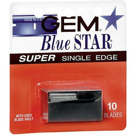 Gem Blue Star Super Single Edge Blades 10 ea (Pack of 4)