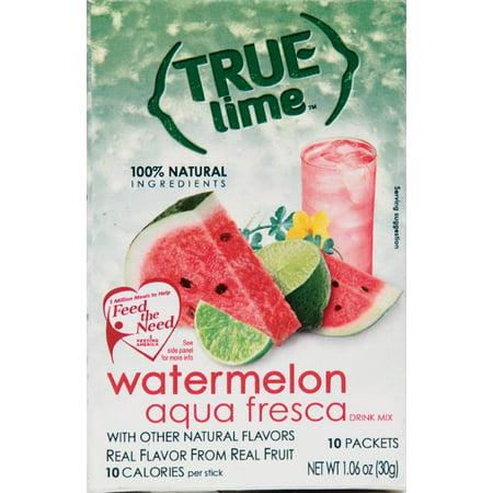 True Lemon Limeade Watermelon Drink Mix, 1.06 Oz., 10 Count