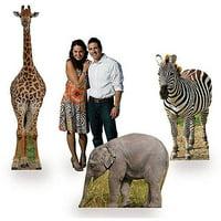 Safari Animal Jungle Party Cardboard Stand-Ups (Set of 3)