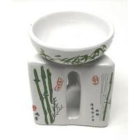 Feng Shui Zen Ceramic Essential Oil Burner Diffuser Tea Light Holder Great For Home Decoration & Aromatherapy OLBA200