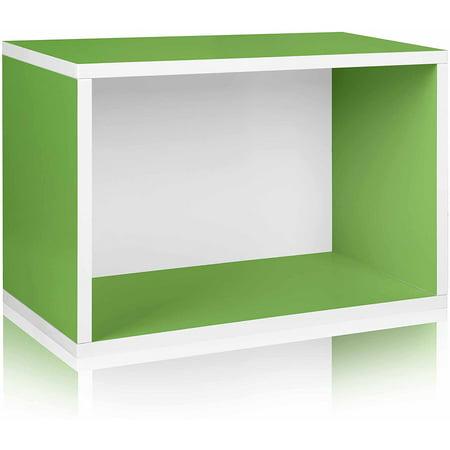 Way Basics Eco Stackable Shelf and Shoe Rack, Green