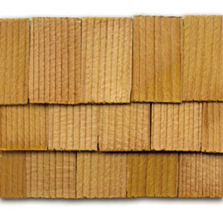 Dollhouse Cedar Rectangle Shingles 140 Pack