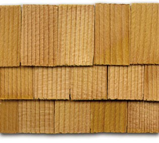 Dollhouse Cedar Rectangle Shingles 140 Pack