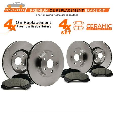 Max Brakes Front & Rear Premium OE Rotors and Ceramic Pads Brake Kit | KT089743-7 - image 4 of 8