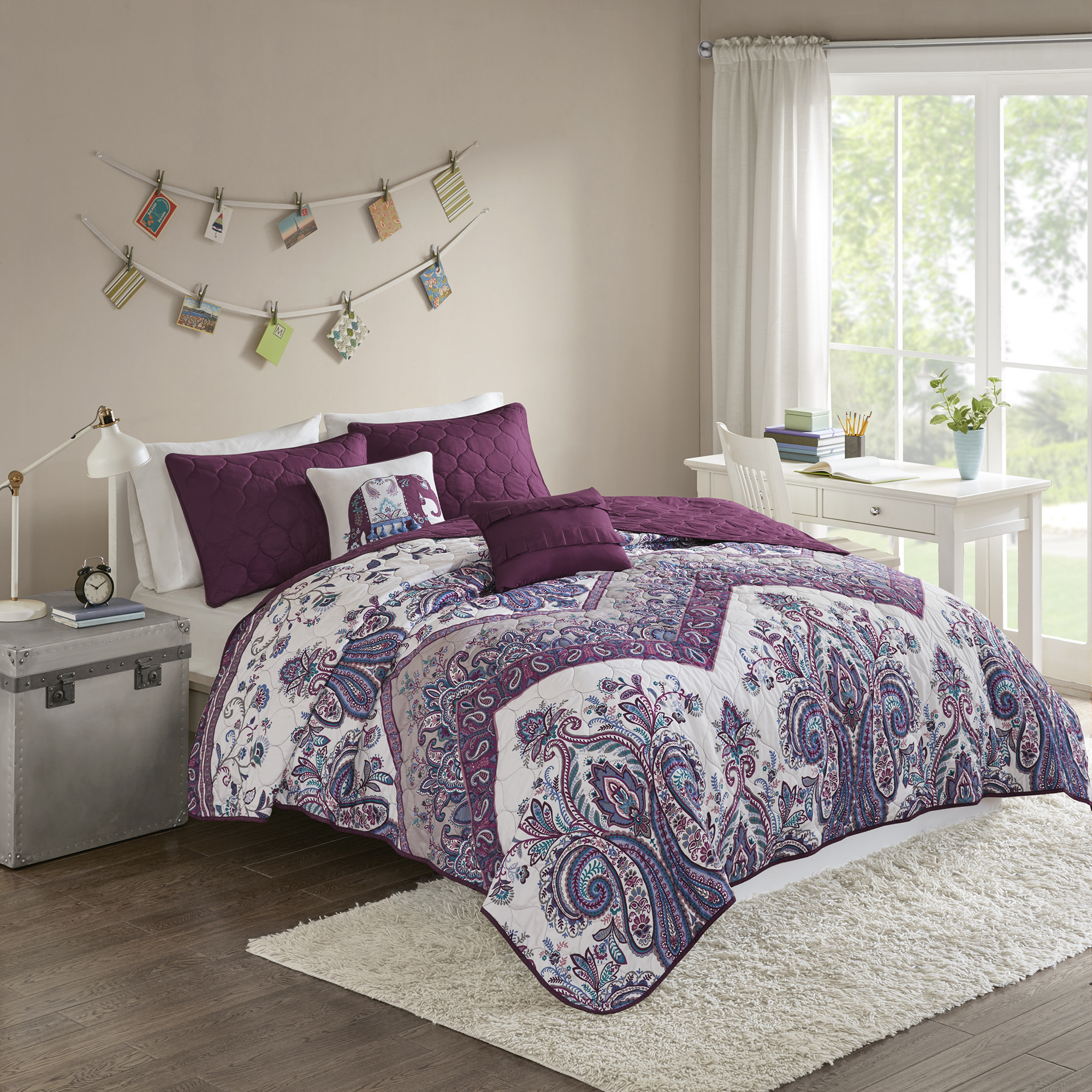 Home Essence Apartment Allura Printed Coverlet Set