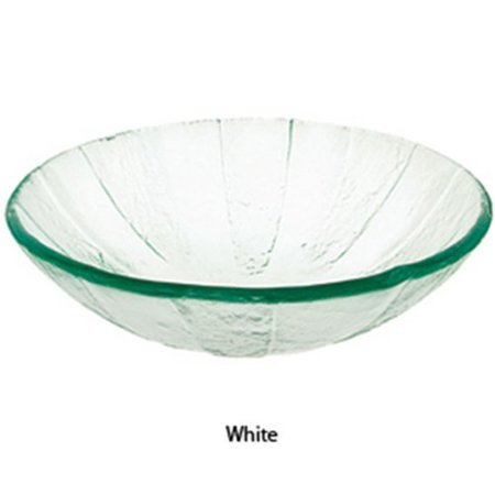 Decolav White Pinwheel Art Glass Vessel Sink 1090-WH ()