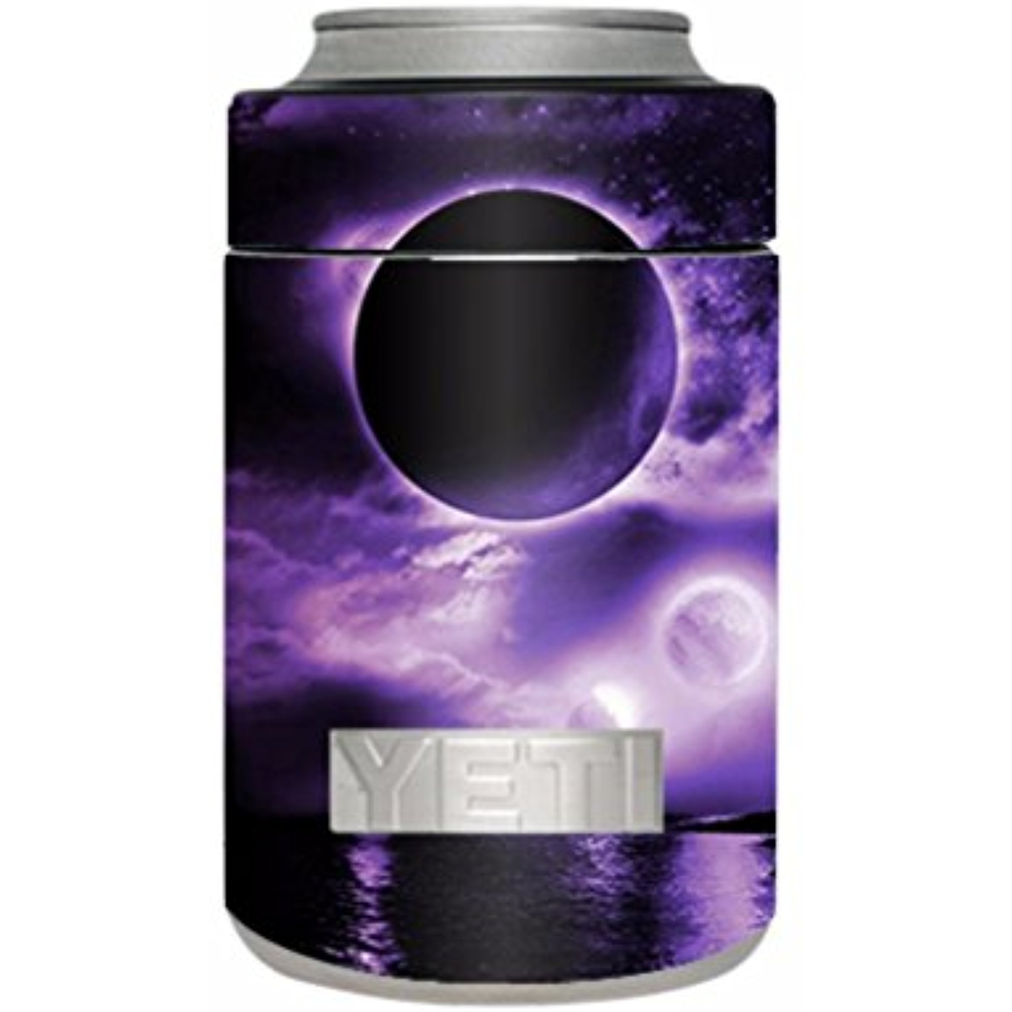 Skin Decal Vinyl Wrap for Yeti Rambler Colster Stickers Skins Cover / Eclipsed Moon purple sky