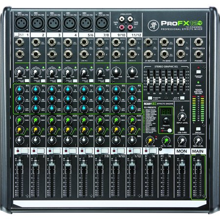Mackie ProFX12v2 12-Channel Professional FX Mixer with USB (Certified Refurbished)