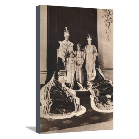 King George Vi and Queen Elizabeth on their Coronation Day, 1937 Stretched Canvas Print Wall