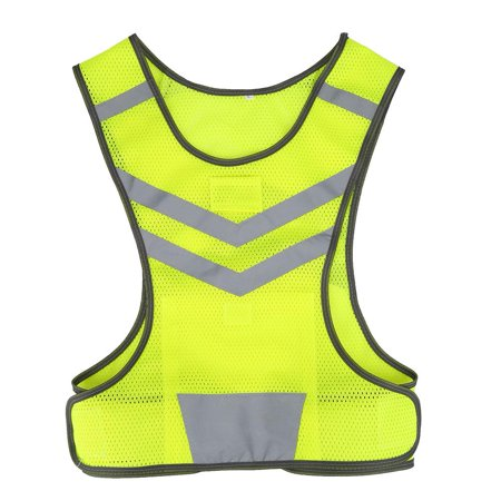 Yosoo  High Visibility Adjustable Reflective Safety Vest for Outdoor Sports Cycling Running Hiking, High Visibility Vest, Safety Vest ()