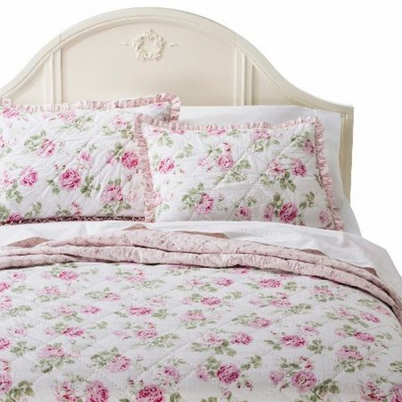 Simply Shabby Chic Pretty Pink Garden Rose Twin Bed Floral