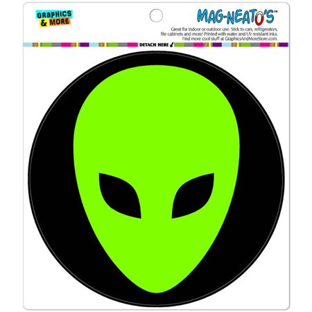 Head Car Magnet - Alien Head Roswell Automotive Car Refrigerator Locker Vinyl Magnet
