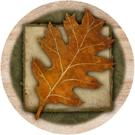 Oak Coaster - Thirstystone Drink Coasters Set, Oak Leaf
