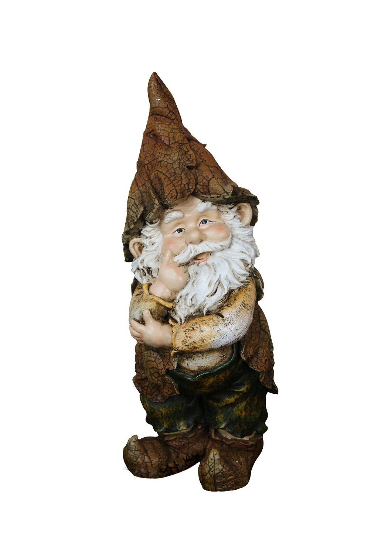 15 Inch Rainforest Thinking Gnome Garden Statue by Garden Gnomes