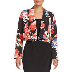 GUESS Women's Floral Print Long Sleeve Convertible Blazer Size M