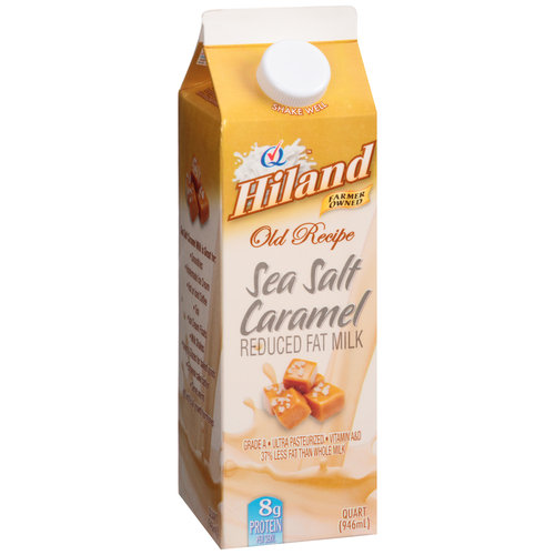 Hiland Old Recipe Sea Salt Caramel Reduced Fat Milk, 32 oz
