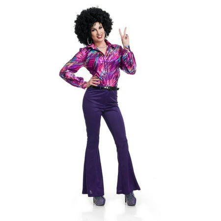 Halloween 70'S Women Disco Pants - Purple - Halloween 70's