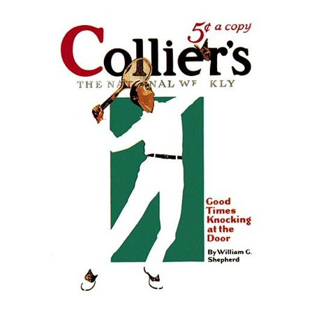 July 25th 1931 magazine cover for Colliers  Cover art by Joseph Farrelly showing a man striking a tennis ball Poster Print by Joseph Farrelly