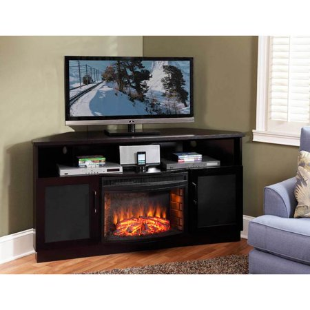 60 In Tv Corner Console With 25 In Curved Electric