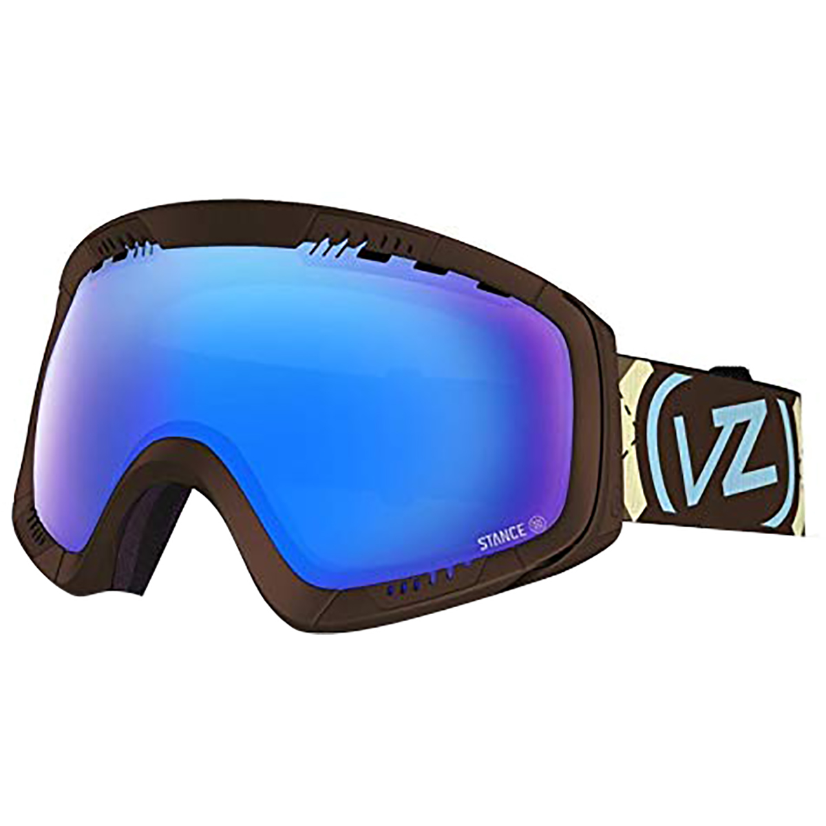 VonZipper Adult Feenom Snowmobile Goggles - Frostbyte - Lime/Quasar Chrome / One Size