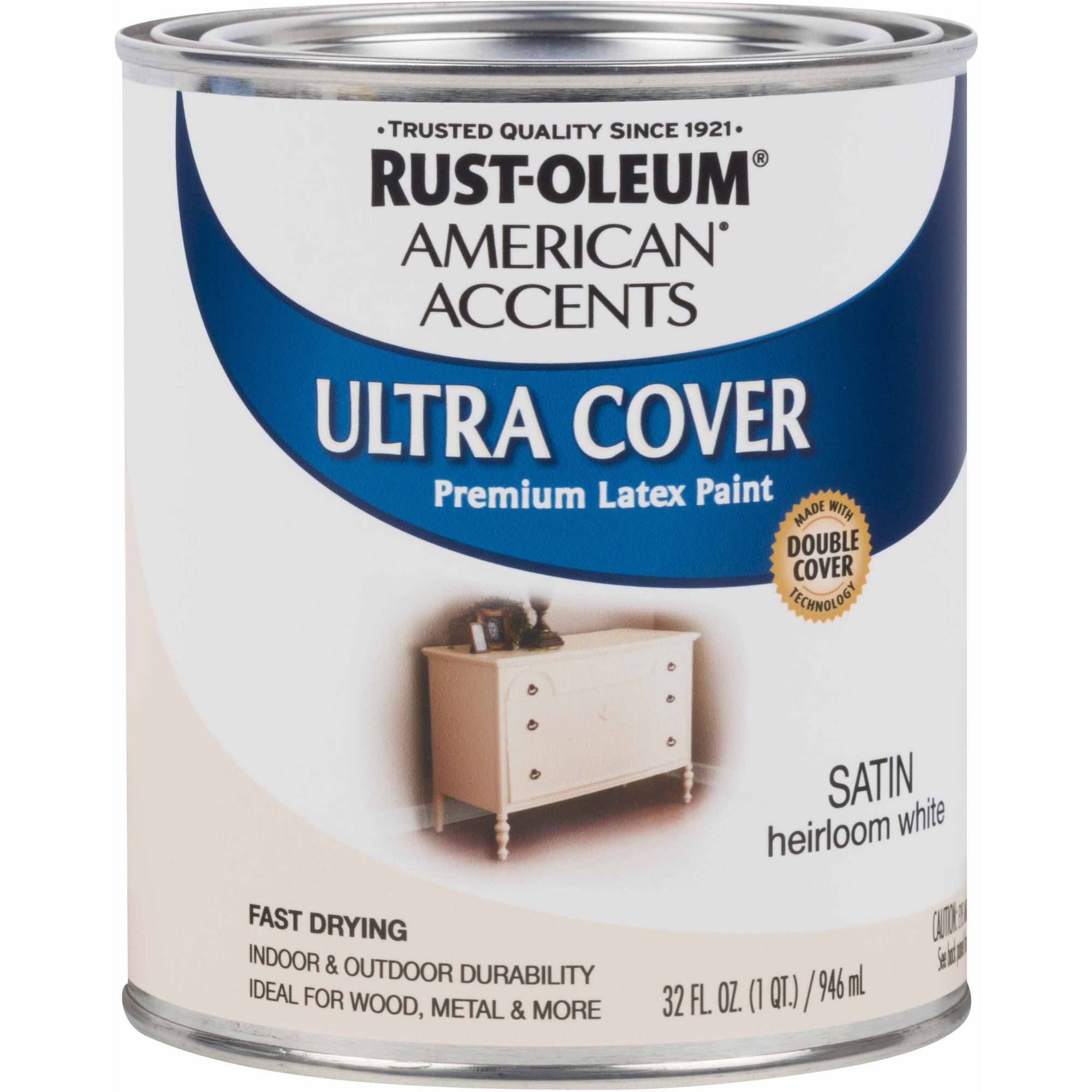 Rust-Oleum American Accents Ultra Cover Quart, Satin Heirloom White